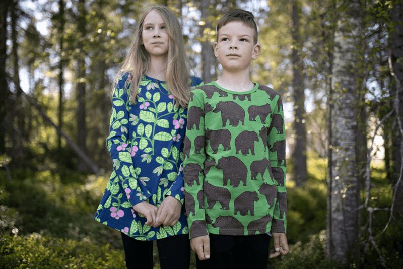 PaaPii Design Nelli tunika Puolukkapuu mustikka-omena ja Nooa Ursa