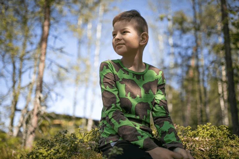 PaaPii Design Nooa paita Ursa metsä-suklaa 1