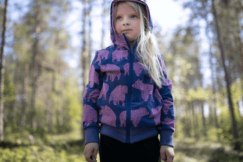 PaaPii Design Retki huppari Ursa mustikka-lila 1