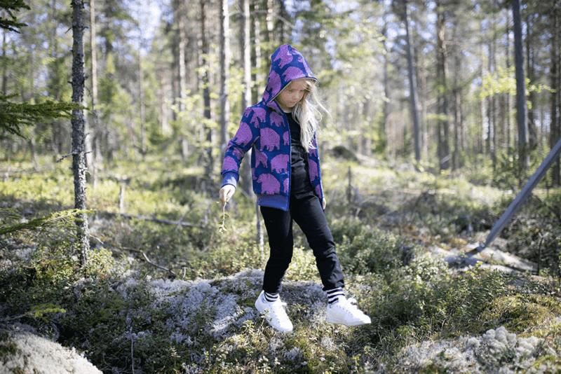 PaaPii Design Retki huppari Ursa mustikka-lila 2