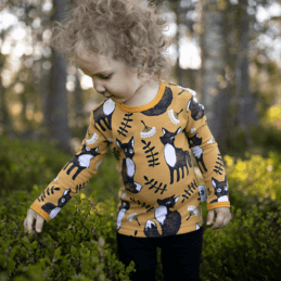 PaaPii Design Uljas paita Nuutti okra-ruoste 2