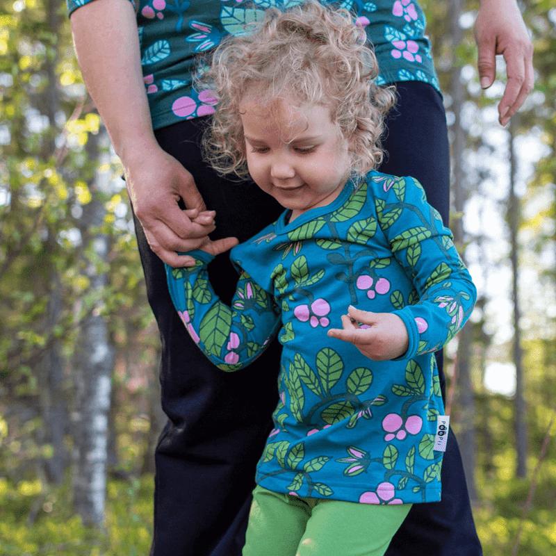 PaaPii Design Vieno tunika Puolukkapuu petrooli-metsä 5