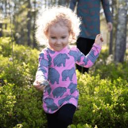 PaaPii Design Vieno tunika Ursa vaaleanpunainen-harmaa 1