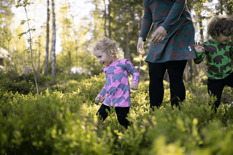 PaaPii Design Vieno tunika Ursa vaaleanpunainen-harmaa 5