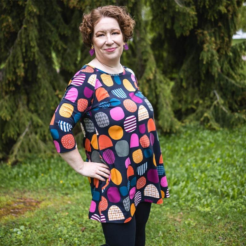 Ehta by Dream Circus Bertta tunika Kivinen maa autumn-colors 1 neliö
