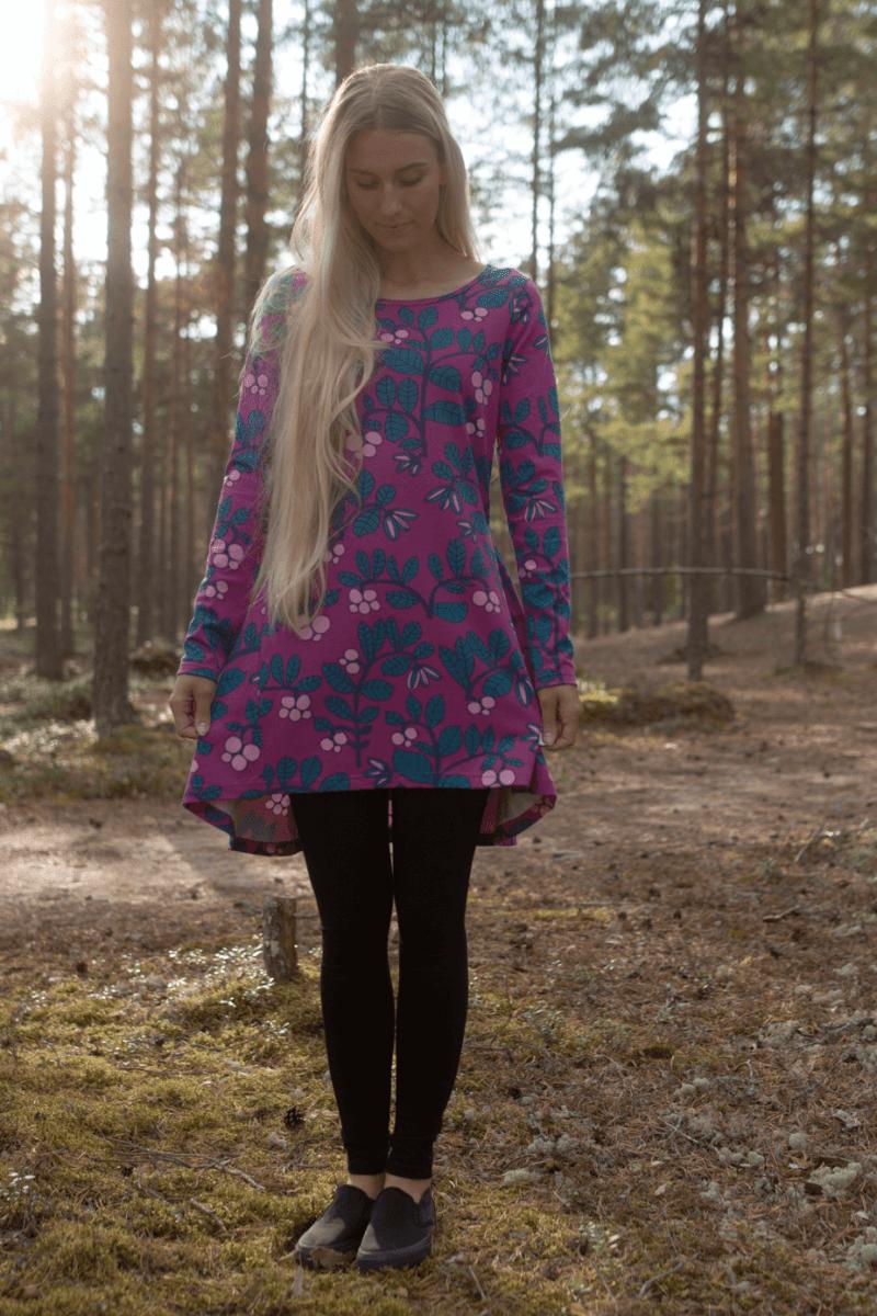 PaaPii Design Heija tunika Puolukkapuu violetti-petrooli 3