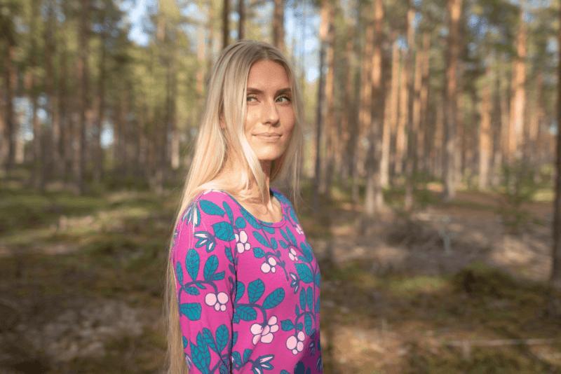 PaaPii Design Heija tunika Puolukkapuu violetti-petrooli 4