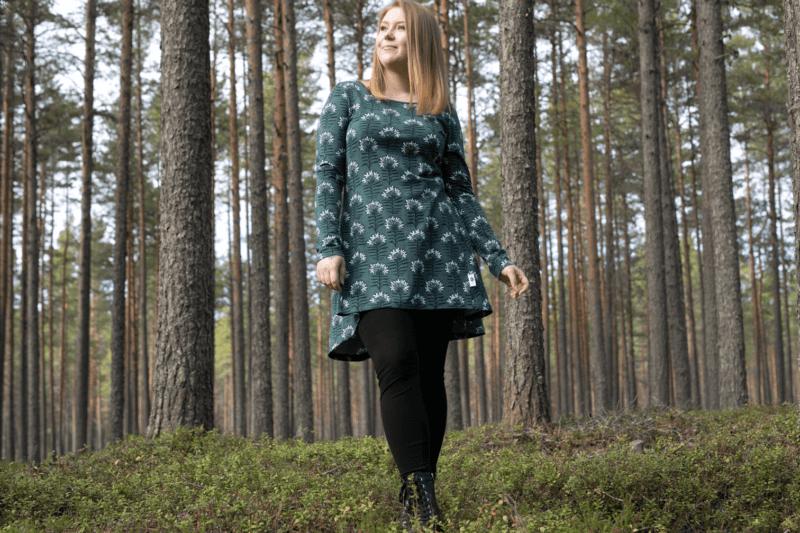 PaaPii Design Heija tunika Taiga tummanvihreä 4