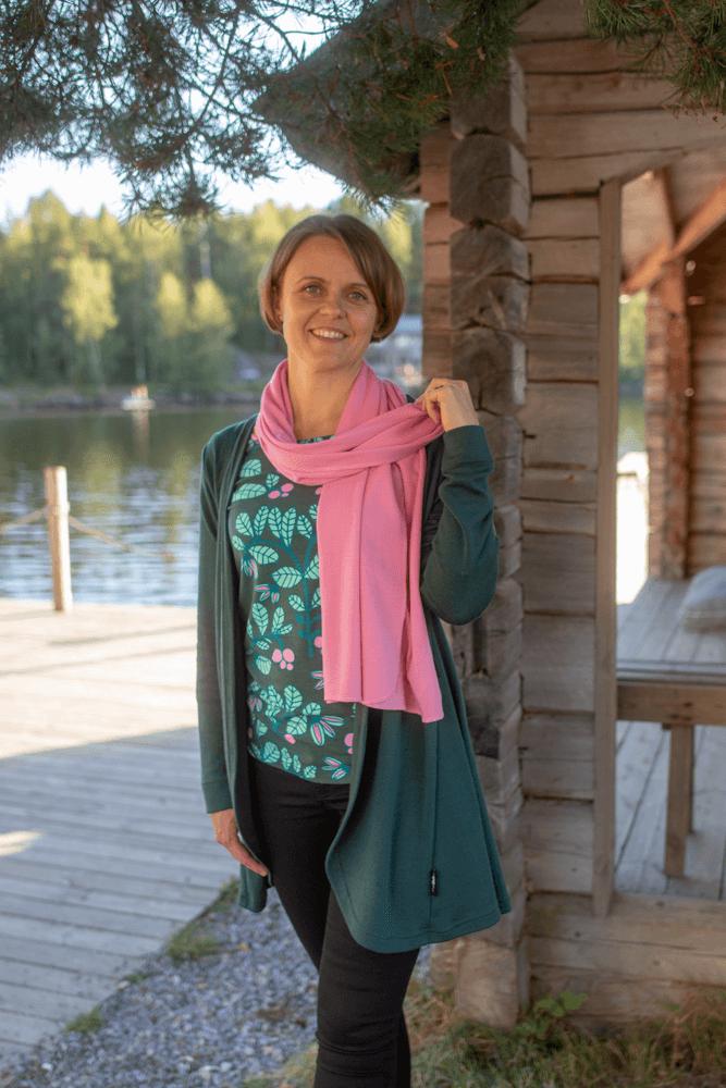 PaaPii Design Merinovillakaulahuivi vaaleanpunainen 4