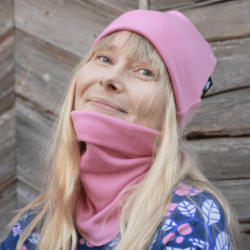 PaaPii Design Merinovillatuubihuivi vaaleanpunainen