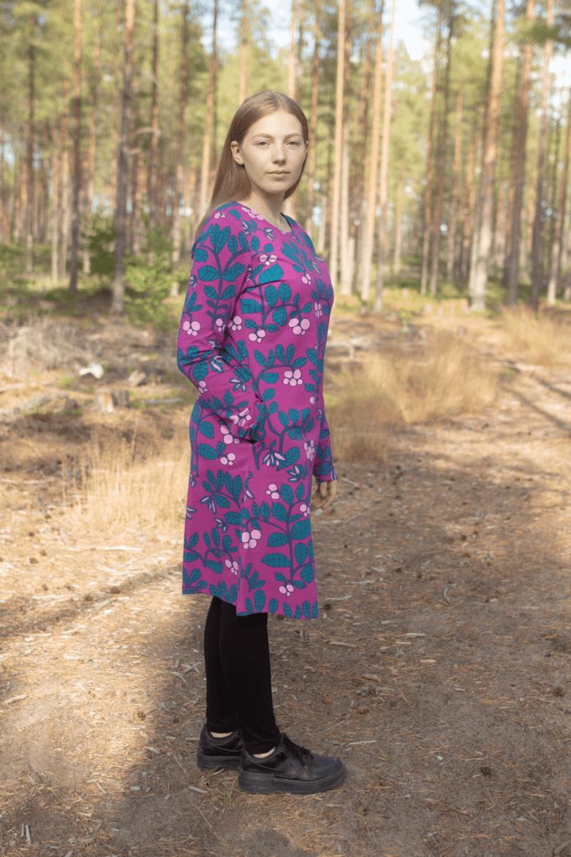 PaaPii Design Sini mekko Puolukkapuu violetti-petrooli 3