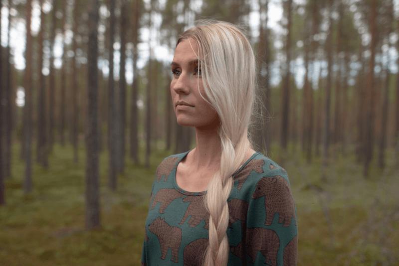 PaaPii Design Sumu tunika Ursa tummanvihreä-suklaa 2