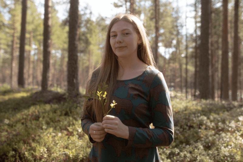 PaaPii Design Sumu tunika Ursa tummanvihreä-suklaa 4