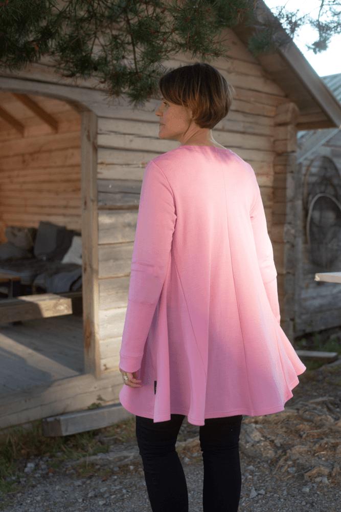 PaaPii Design Syli merinovillaneuletakki vaaleanpunainen 2