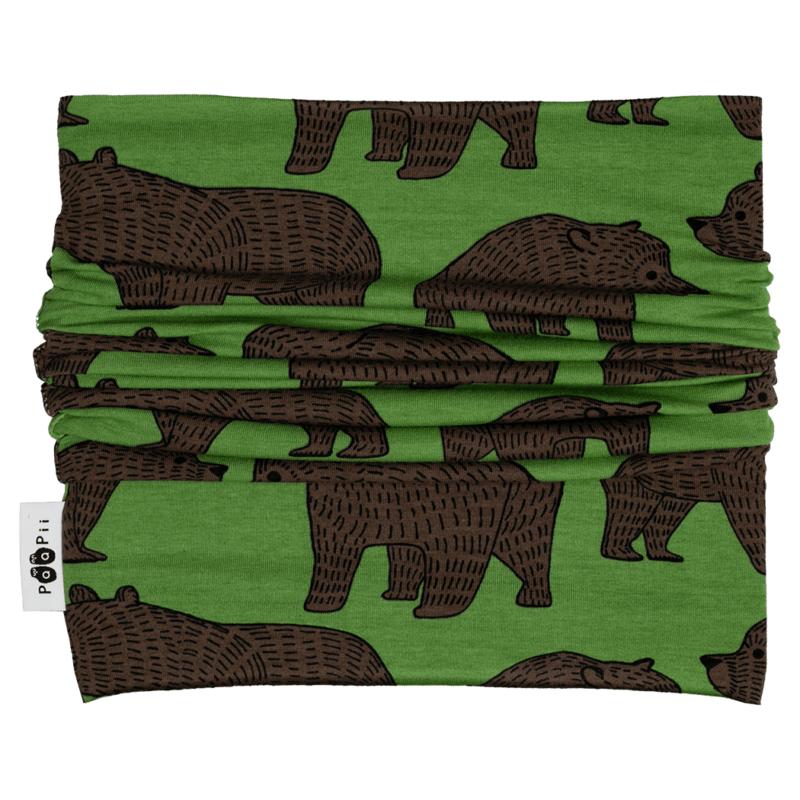 PaaPii Design Tuubihuivi Ursa metsä-suklaa