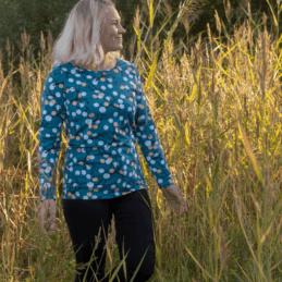 PaaPii Design Aava paita Marjapuu petrooli-persikka 4