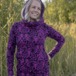 PaaPii Design Halla huppari Mielikki violetti 10