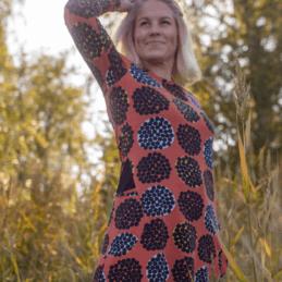 PaaPii Design Kannel tunika Rubus ruoste-okra 7