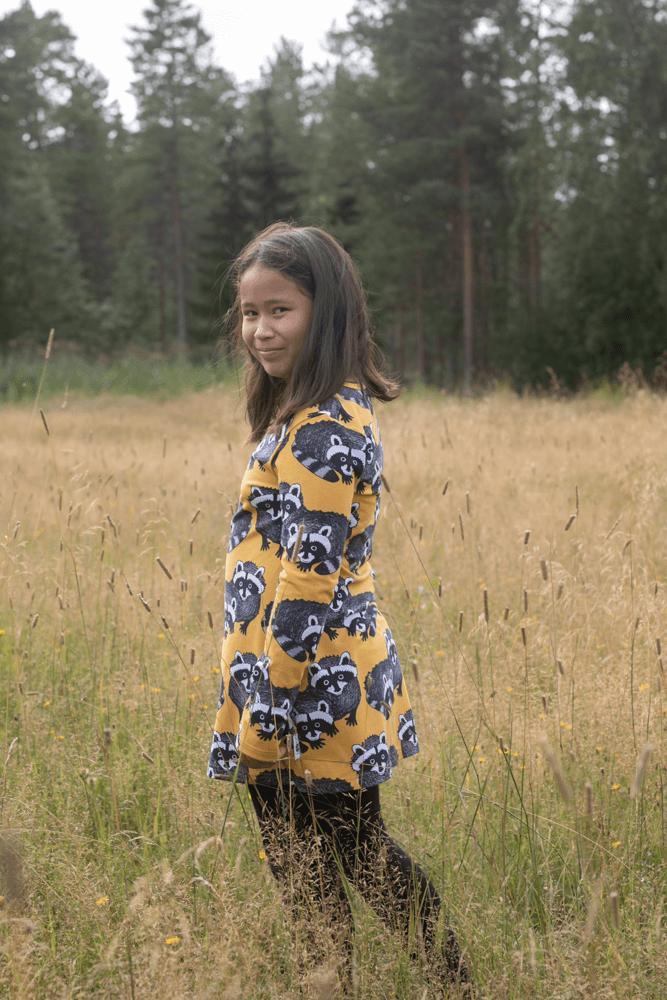 PaaPii Design Nelli tunika Pesukarhu okra-harmaa 3