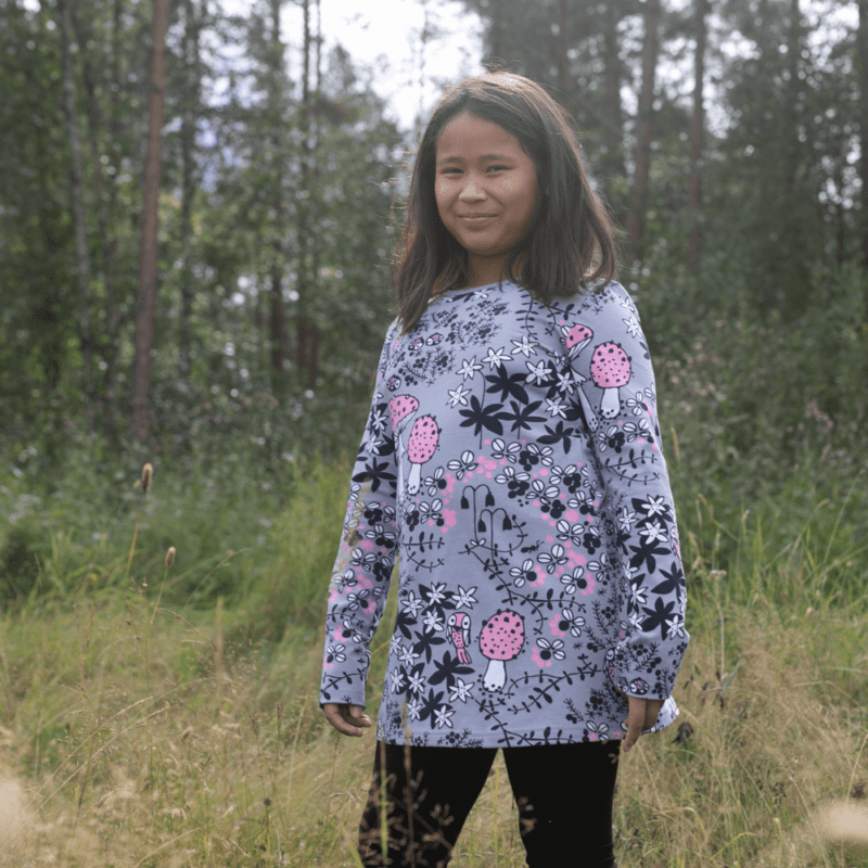 PaaPii Design Nelli tunika Sammalpolku harmaa-vaaleanpunainen 1