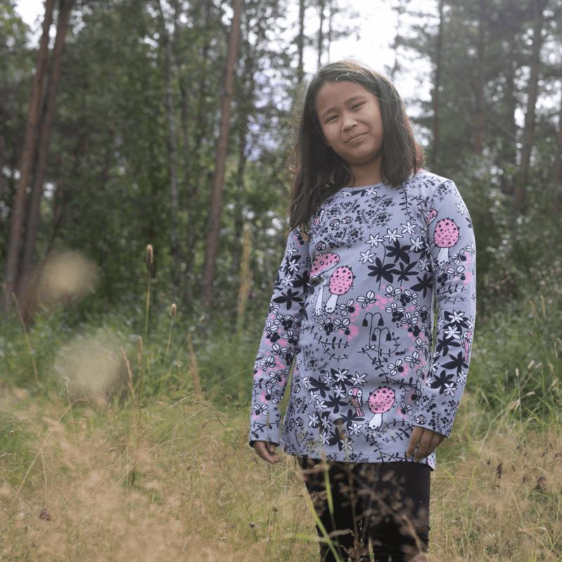 PaaPii Design Nelli tunika Sammalpolku harmaa-vaaleanpunainen 2