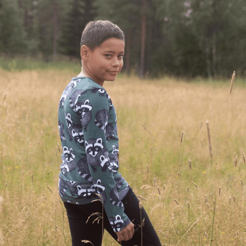 PaaPii Design Nooa paita Pesukarhu tummanvihreä-harmaa 2