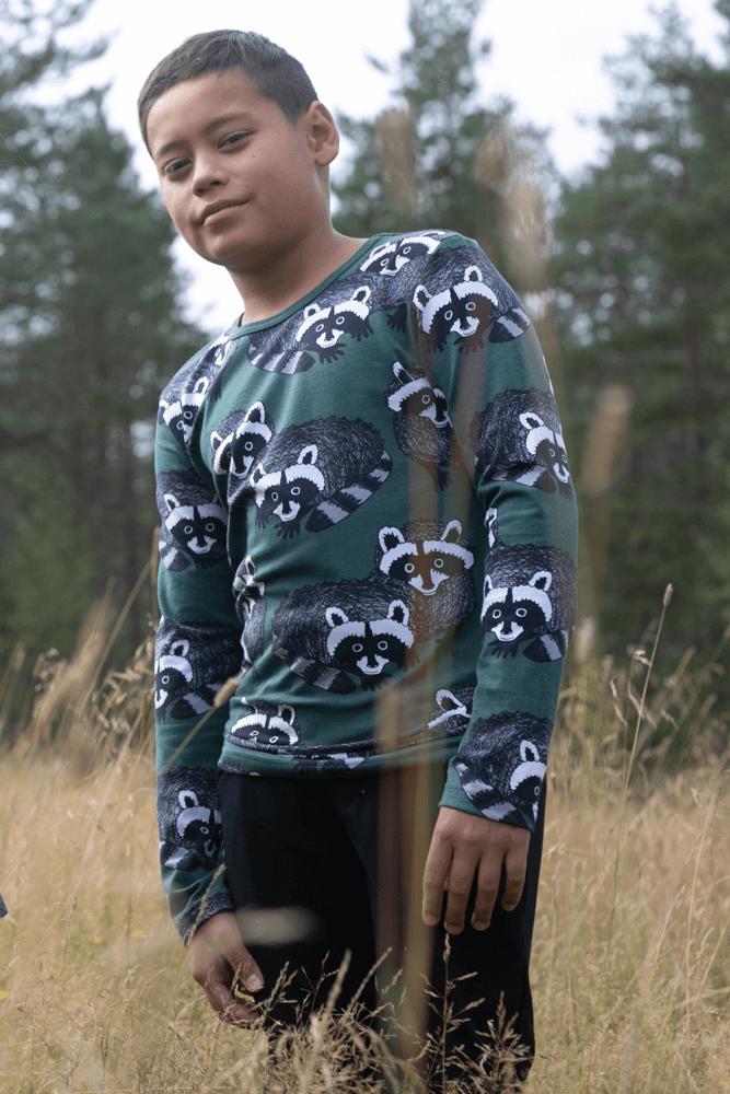 PaaPii Design Nooa paita Pesukarhu tummanvihreä-harmaa 4