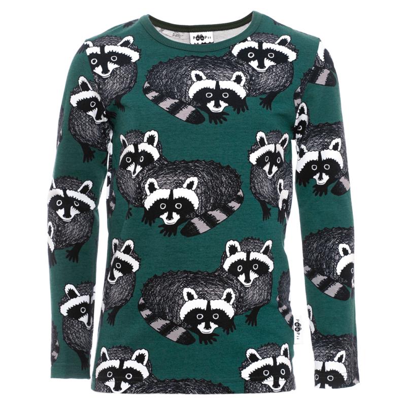 PaaPii Design Nooa paita Pesukarhu tummanvihreä-harmaa