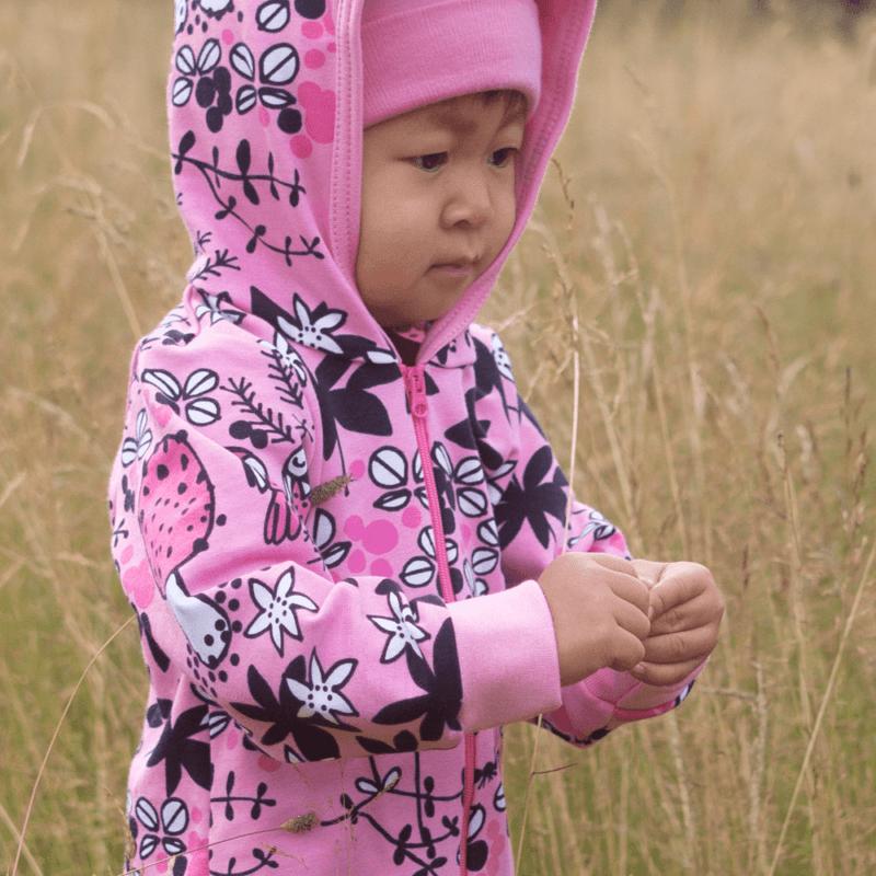 PaaPii Design Riemu collegehaalari Sammalpolku vaaleanpunainen-pinkki 7