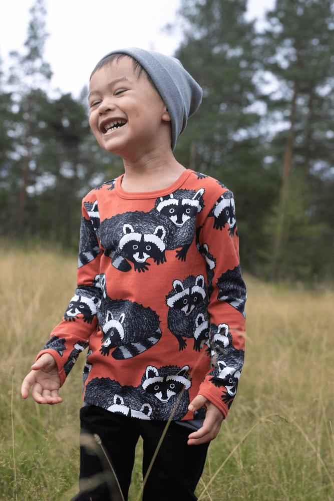 PaaPii Design Uljas paita Pesukarhu ruoste-harmaa 1