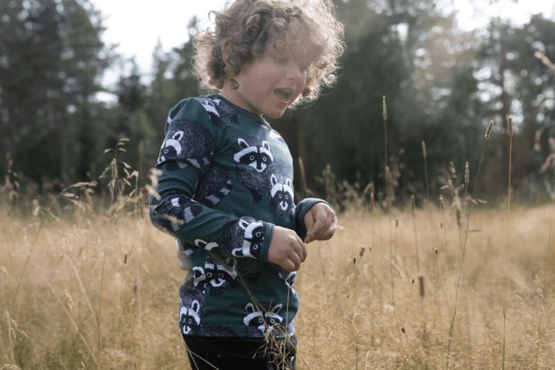 PaaPii Design Uljas paita Pesukarhu tummanvihreä-harmaa 2