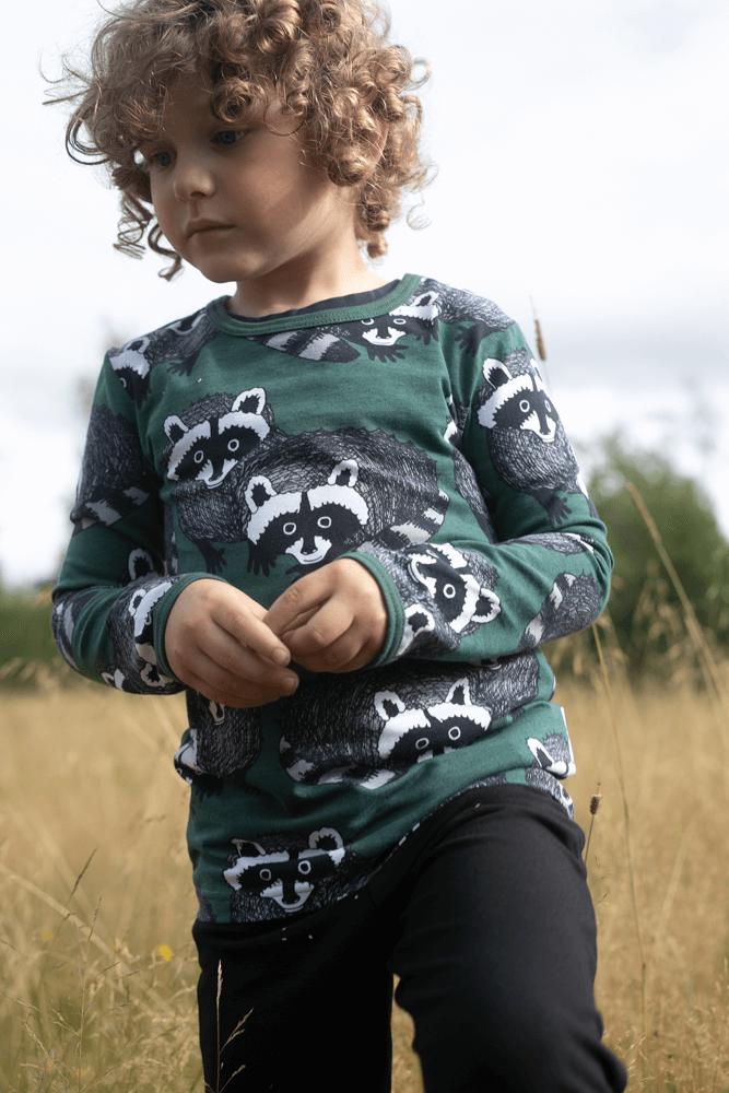 PaaPii Design Uljas paita Pesukarhu tummanvihreä-harmaa 3