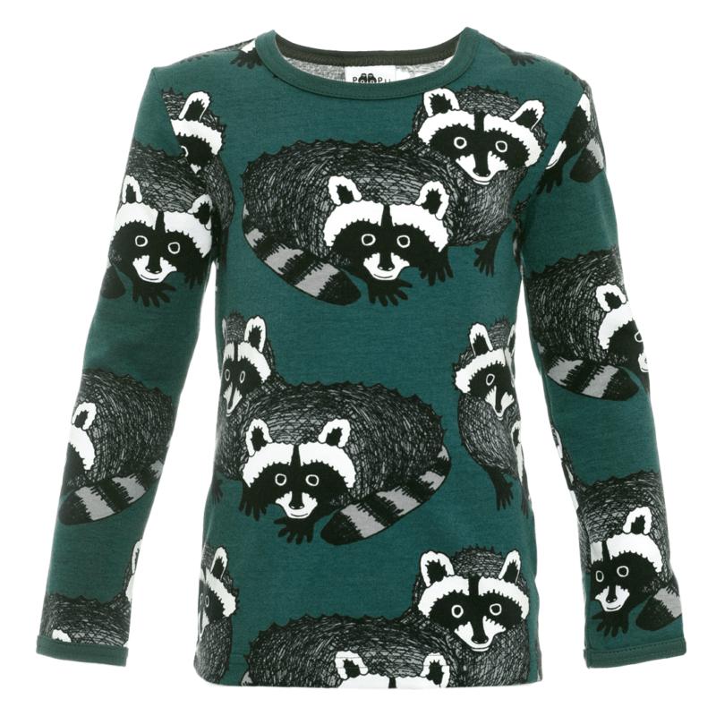PaaPii Design Uljas paita Pesukarhu tummanvihreä-harmaa