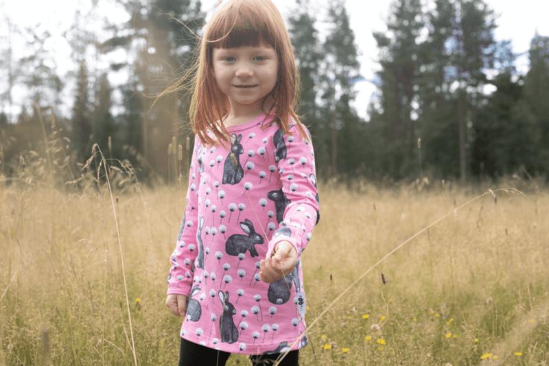 PaaPii Design Vieno tunika Elli vaaleanpunainen-harmaa 1