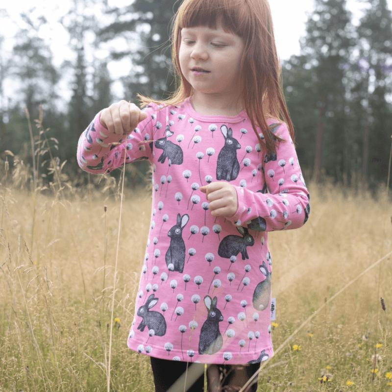 PaaPii Design Vieno tunika Elli vaaleanpunainen-harmaa 2
